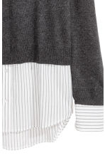 Fine-knit top - Dark grey marl - Ladies | H&M 3