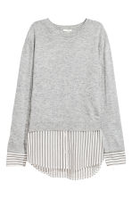 Fine-knit top - Grey marl - Ladies | H&M 2
