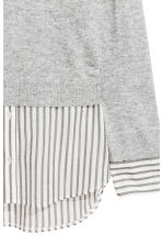 Fine-knit top - Grey marl - Ladies | H&M 3