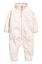 Fleece Jumpsuit - White/leopard print - Kids | H&M CA 1