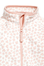 Fleece Jumpsuit - White/leopard print - Kids | H&M CA 2