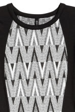 Fitted jersey dress - Black/Jacquard - Ladies | H&M CN 3