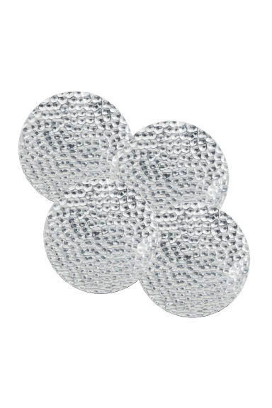 4-pack metal coasters - Silver-coloured - Home All | H&M CN 1