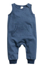 Sleeveless jersey romper - Dark blue - Kids | H&M 1
