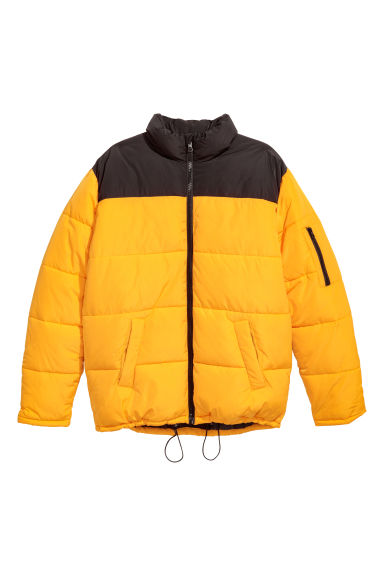 Padded jacket - Yellow/Black -  | H&M CN