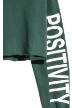 Cropped sweatshirt - Dark green - Ladies | H&M CA 3