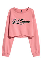 Cropped sweatshirt - Coral pink - Ladies | H&M CN 2