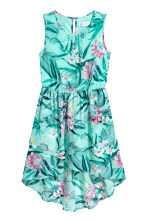 Asymmetric dress - Mint green/Patterned - Kids | H&M CN 2