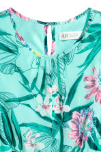 Asymmetric dress - Mint green/Patterned - Kids | H&M CN 3