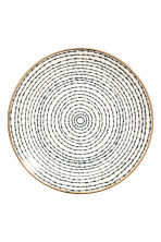 Porcelain plate - White/Blue patterned - Home All | H&M GB 2