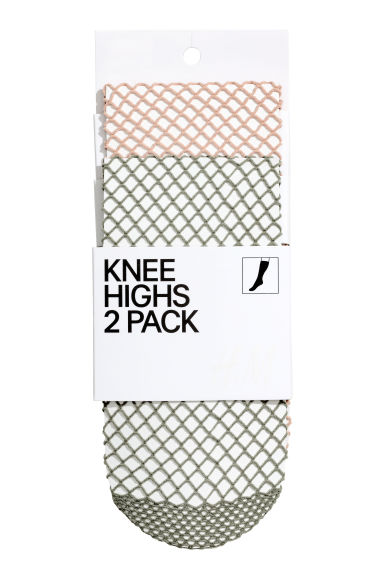 2-pack knee-highs - Khaki - Ladies | H&M