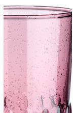 Glass tumbler - Burgundy - Home All | H&M IE 2