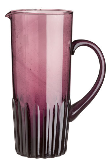 Glass jug - Burgundy - Home All | H&M IE 1