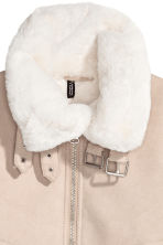 Jacket with a faux fur lining - Beige - Ladies | H&M 4