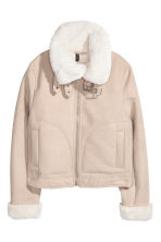 Jacket with a faux fur lining - Beige - Ladies | H&M 3