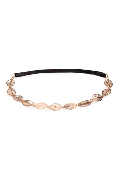 Hairband with metal leaves - Rose gold -  | H&M GB