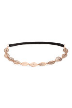 Hairband with metal leaves - Rose gold -  | H&M 1