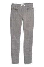 Smart stretch trousers - Dogtooth-patterned - Ladies | H&M 2