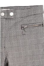 Smart stretch trousers - Dogtooth-patterned - Ladies | H&M 3