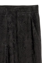 Jacquard-weave trousers - Black/Paisley patterned - Ladies | H&M 3