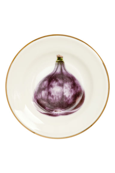 Mini plat en porcelaine - Blanc/mauve - Home All | H&M FR