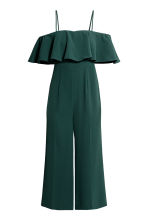 Jumpsuit with a flounce - Dark green - Ladies | H&M 2