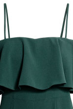 Jumpsuit with a flounce - Dark green - Ladies | H&M 3