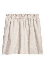 Linen-blend skirt - Light beige - Ladies | H&M 2