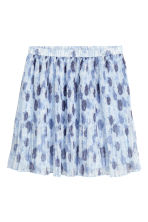 Pleated skirt - Light blue/Floral - Ladies | H&M 2