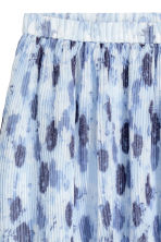 Pleated skirt - Light blue/Floral - Ladies | H&M 3