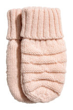 Fleece-lined mittens - Light pink - Kids | H&M CN 1