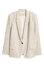 H&M+ Pinstriped jacket - Natural white/Striped - Ladies | H&M 2