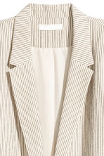H&M+ Pinstriped jacket - Natural white/Striped - Ladies | H&M 3