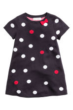 Fine-knit dress - Dark blue/Spotted - Kids | H&M CN 2