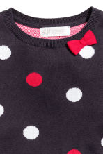 Fine-knit dress - Dark blue/Spotted - Kids | H&M CN 3