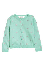 Cotton cardigan - Light green/Spotted - Kids | H&M CN 2