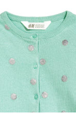 Cotton cardigan - Light green/Spotted - Kids | H&M CN 3