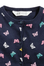 Cotton cardigan - Dark blue/Butterflies - Kids | H&M CN 3