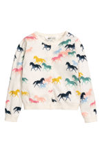 Cotton cardigan - Natural white/Horses -  | H&M 2
