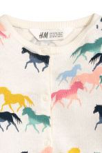 Cotton cardigan - Natural white/Horses -  | H&M 3