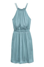 Short satin dress - Light turquoise -  | H&M 2
