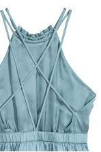 Short satin dress - Light turquoise -  | H&M 3