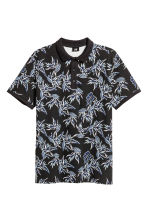 圖案網眼Polo衫 - Black/Patterned - Men | H&M 2