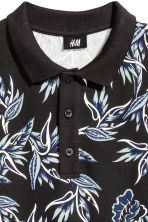 圖案網眼Polo衫 - Black/Patterned - Men | H&M 3