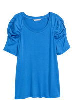 Top with puff sleeves - Blue - Ladies | H&M 2