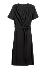 H&M+ Wrapover dress - Black - Ladies | H&M GB 2