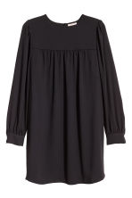 H&M+ Puff-sleeved dress - Black - Ladies | H&M CN 2