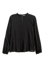 H&M+ Long-sleeved blouse - Black - Ladies | H&M 2