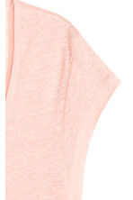 Linen jersey top - Powder pink - Ladies | H&M CA 3