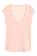 Linen jersey top - Powder pink - Ladies | H&M 2